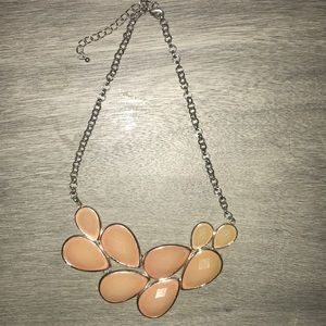 Salmon statement necklace